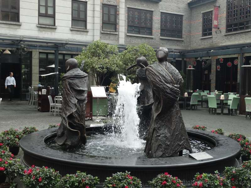 The fountain in the heart of Xin Tian Di Shanghai