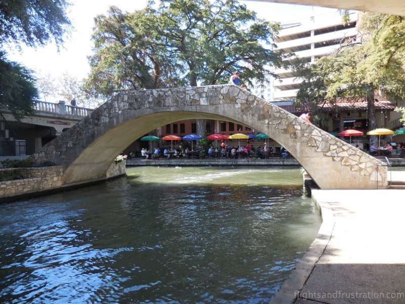 Stone bridge at the San Antonio riverwalk