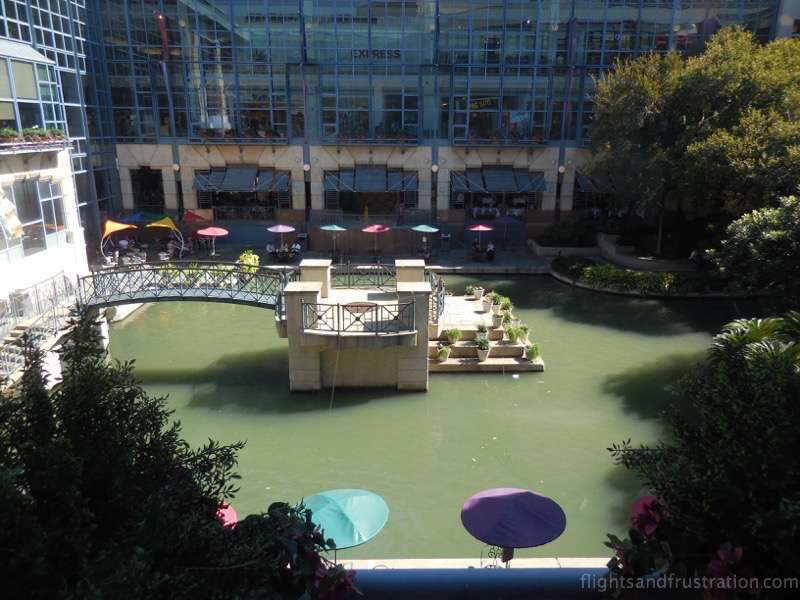 View from the Rivercenter mall