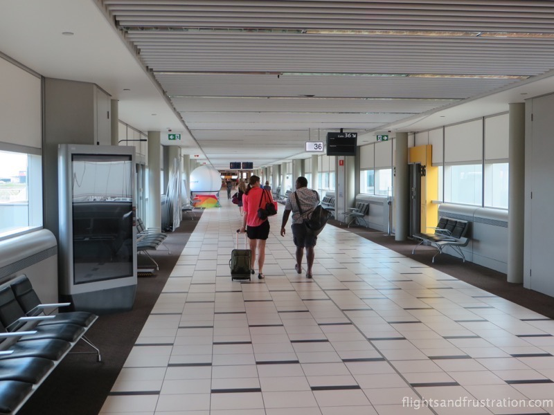 Corridor to some departure gates at brisbane airport domestic terminal