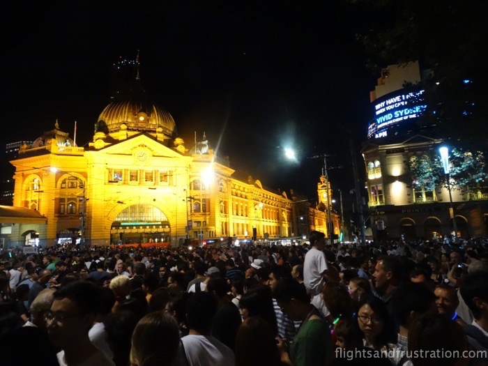 Flinders Street Station was not decorated for White Night Melbourne 2015