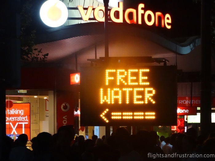 white nights melbourne Free water but where is it?