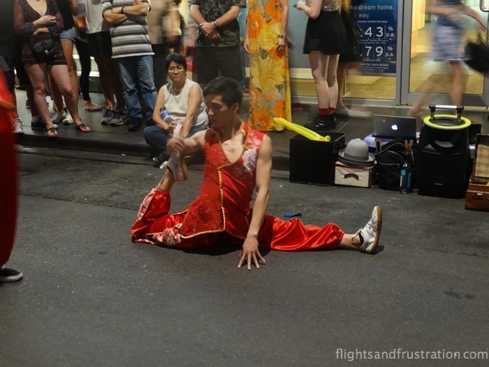 How does he do that? When there is the white night festival Melbourne going on