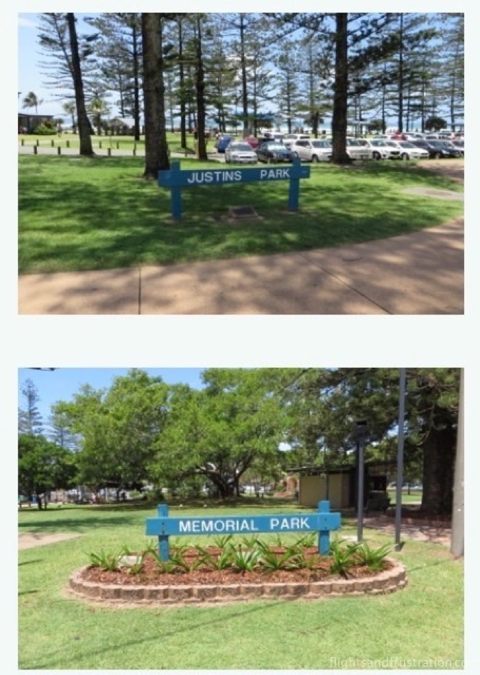 Some of the parks at Burleigh Heads Attractions