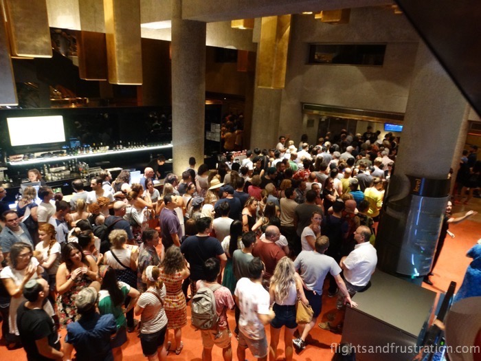 The queue inside Hammer Hall on white night Melbourne 2015