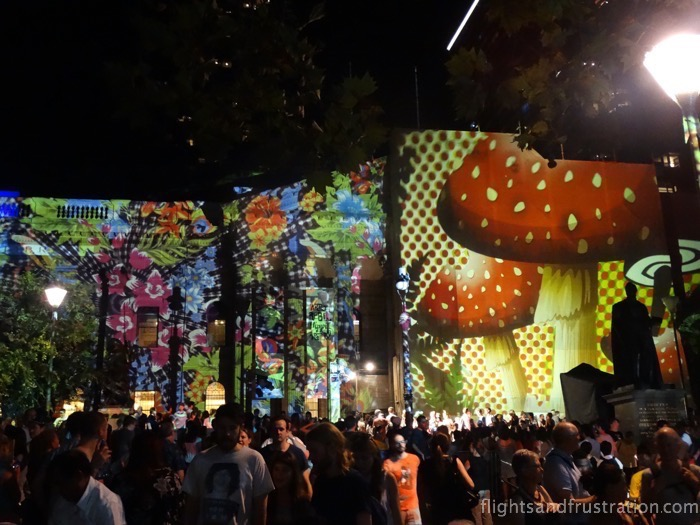 Was this really the Rabbit Hole exhibit? With mushrooms on White Night Melbourne 2015