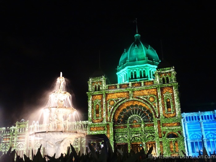 Wonderful White Night Festival Melbourne animation at the Royal Exhibition Building