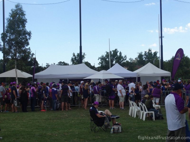 Queueing for autographs at the melbourne storm family fun day
