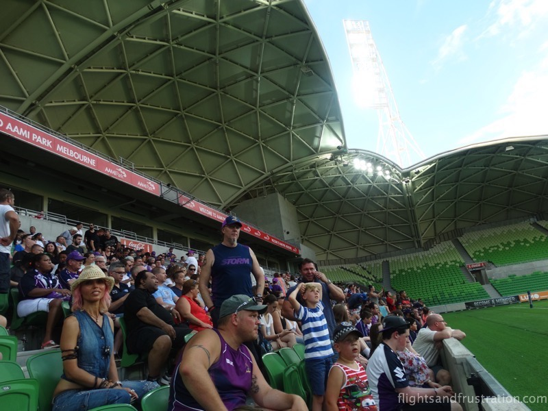 Some of the fans who attended the trial match