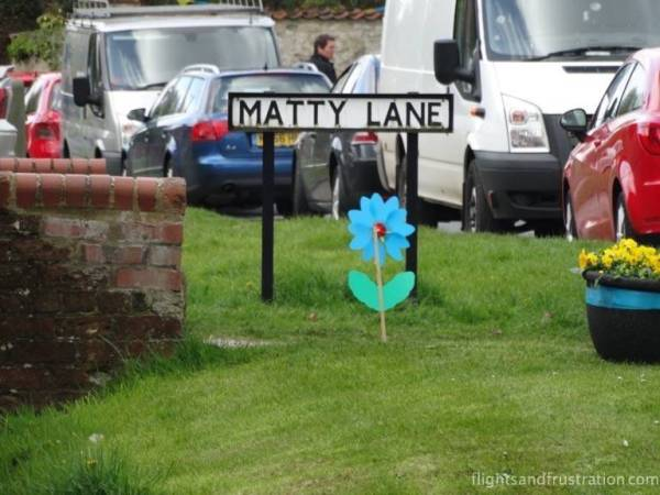 Even Matty Lane North Newbald was getting into La Tour De Yorkshire spirit