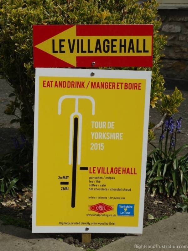Even the village hall has gone a bit French for La Tour De Yorkshire