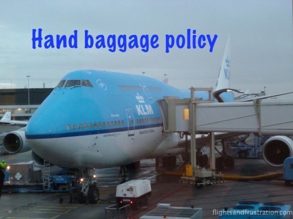 KLM hand baggage policy