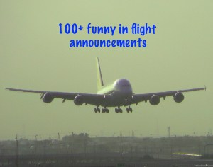 100+ Flight Attendant Funny Announcements