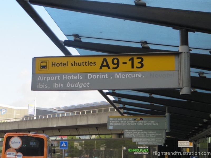 Catch the Ibis hotel shuttle bus from stop A9-13