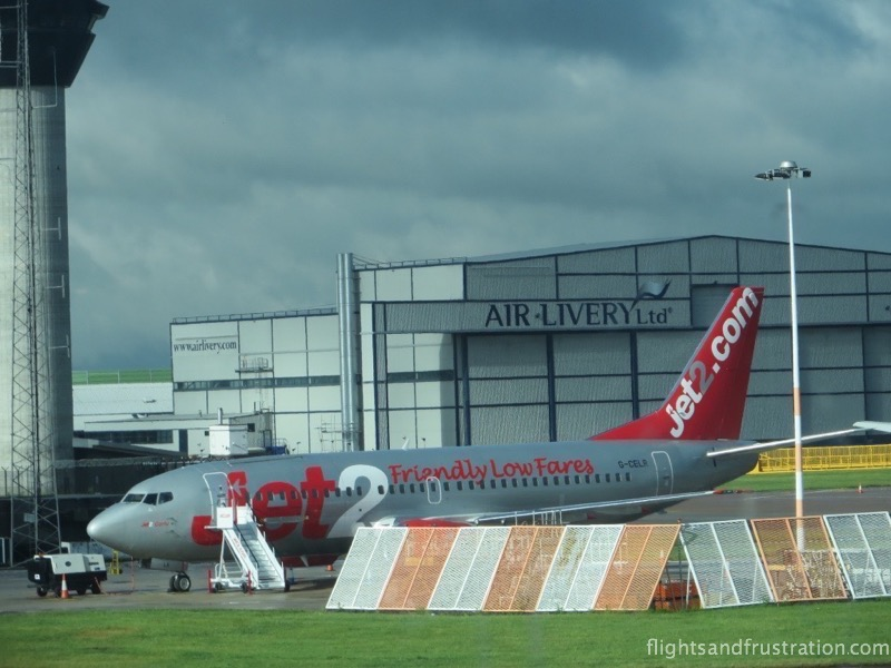 Jet2.com plane at Manchester Airport