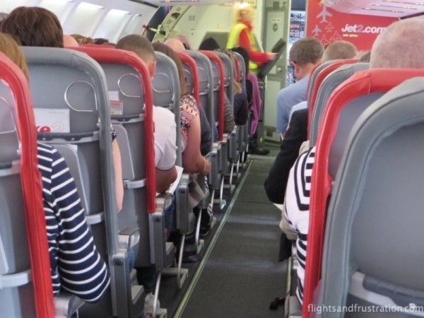 Narrow aisle way on Jet2 was highlighted on a review of my flight with Jet2