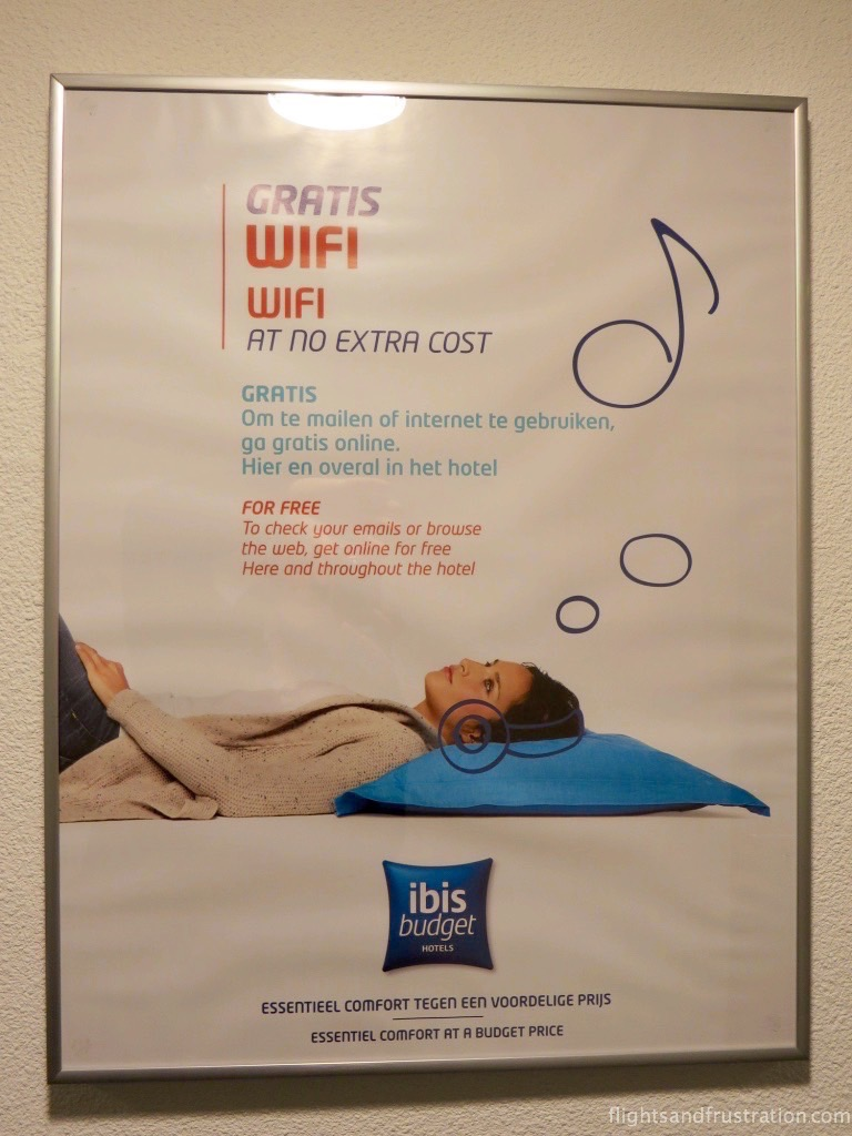 You get free wifi at Ibis Budget Hotels