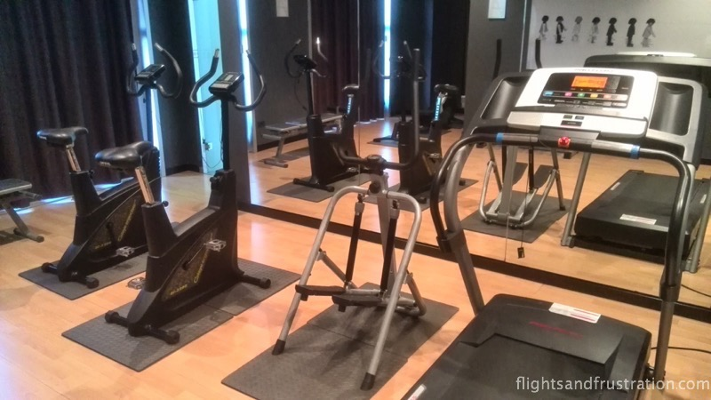 The exercise room at the max hotel livorno