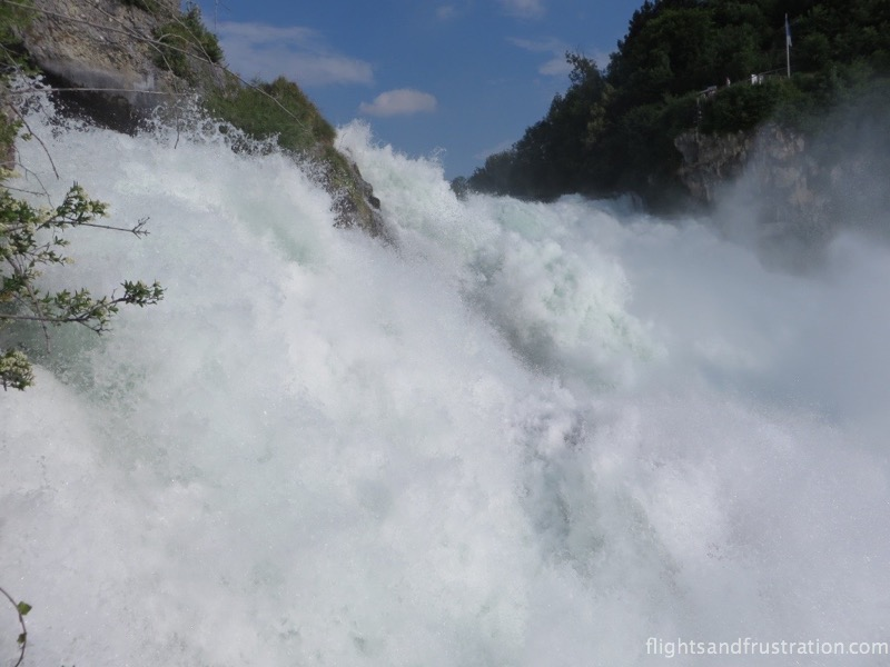 You can almost feel the power of the water at the Rhein Falls in Switzerland