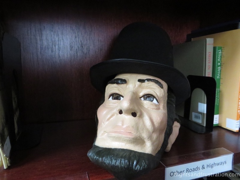 Abraham Lincoln head figurine at the Lincoln Highway Experience Museum nr Latrobe