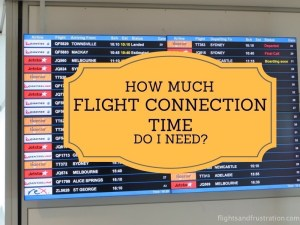 Flight connection: How much time do I need for a connecting flight?