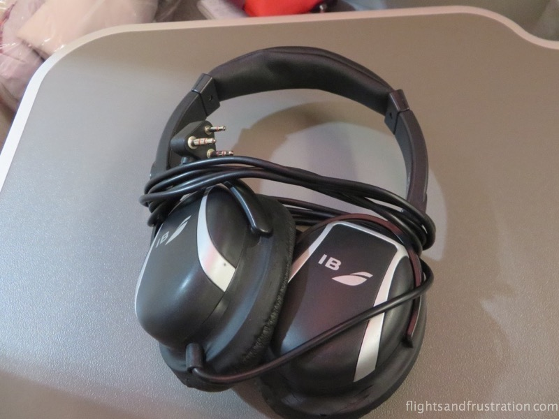 Headphones with Iberia Business Class