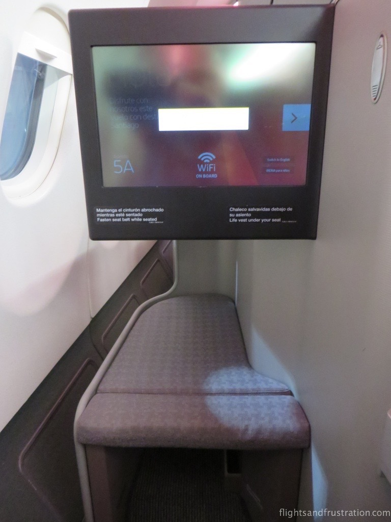 Plenty of legroom and big entertainment screen with Iberia Business Class long haul