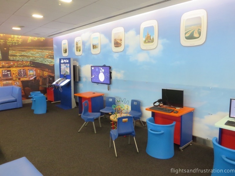 Kids playroom at the British Airways Terminal 5 Business lounge