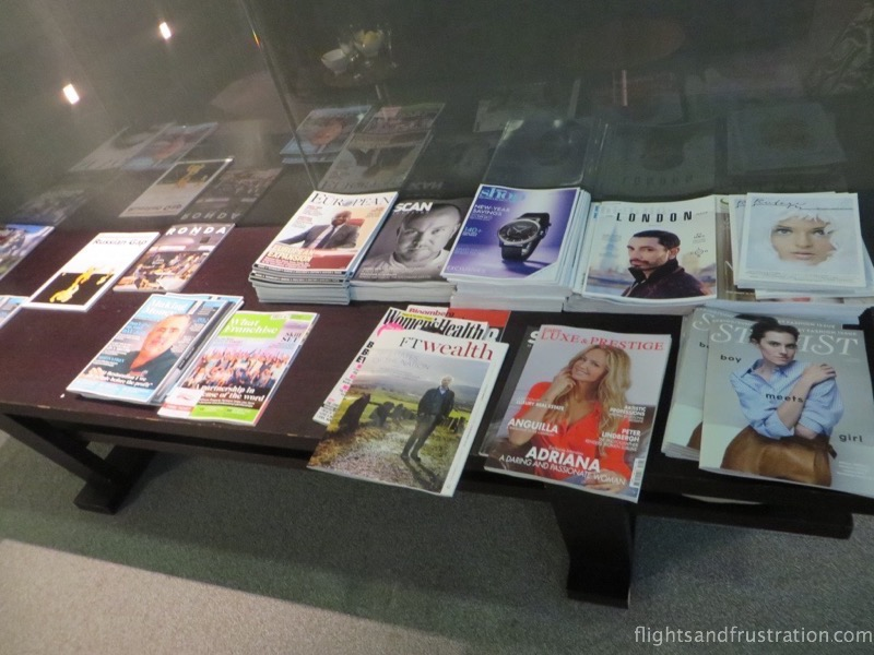 Magazines available in the BA Galleries lounge