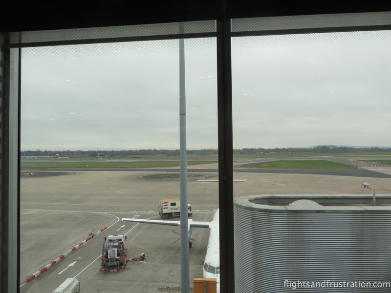 Runway view from the BA lounge in Manchester