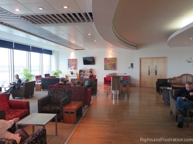 Sit back and relax in the Manchester airport BA lounge