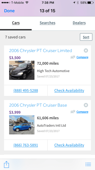 car shopping for teen with cars.com