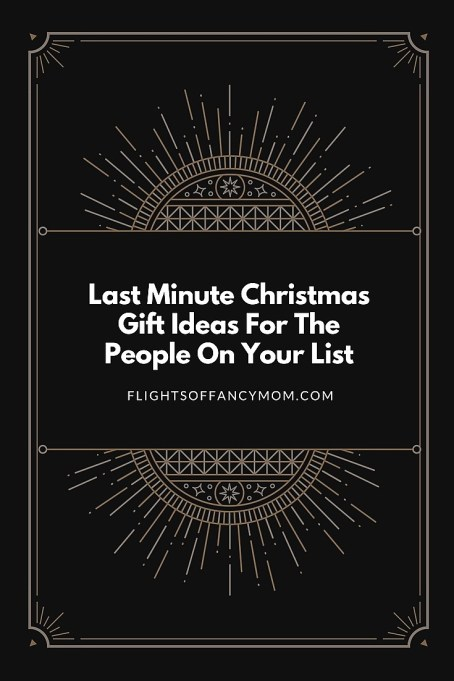 last minute christmas gift ideas