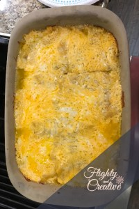 Flighty and Creative Chicken Enchilada Casserole