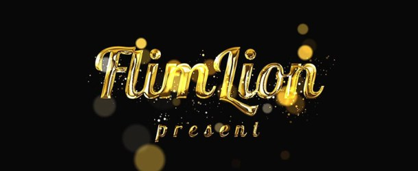 Create Gold Particles Text Reveal Animation