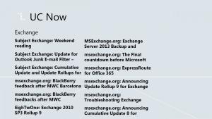 Exchange news feed