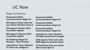 Skype for Business (Lync) news Feed