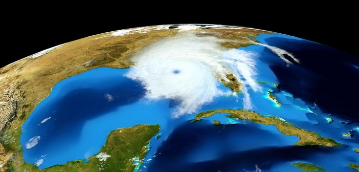 Huricane Michael as seen from space landfall in Florida