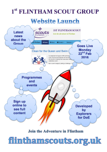 Flintham Website Launch Flyer