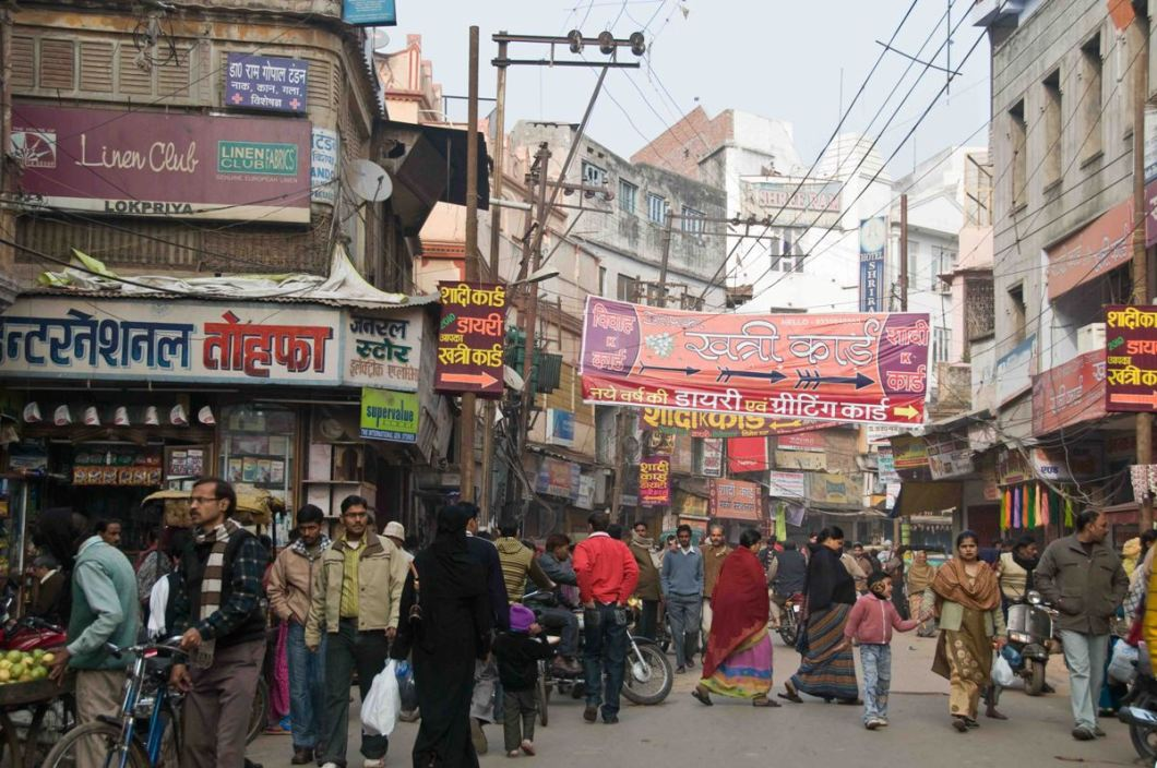 3. the streets of Benaras are mostly crowded
