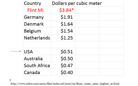 Table 1. Representative water rates from around the world.