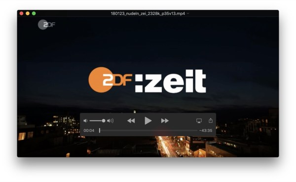 Quicktime Streaming Zdf