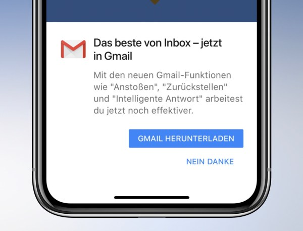 Inbox Gmail Fail