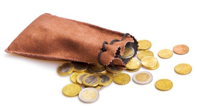 Saquito con monedas