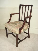 Stylish Georgian mahogany desk chair.