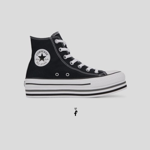 Chuck Taylor All Star Platform High Top 'Negras'