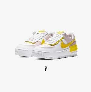 Nike Air Force 1 Shadow Yellow Pink