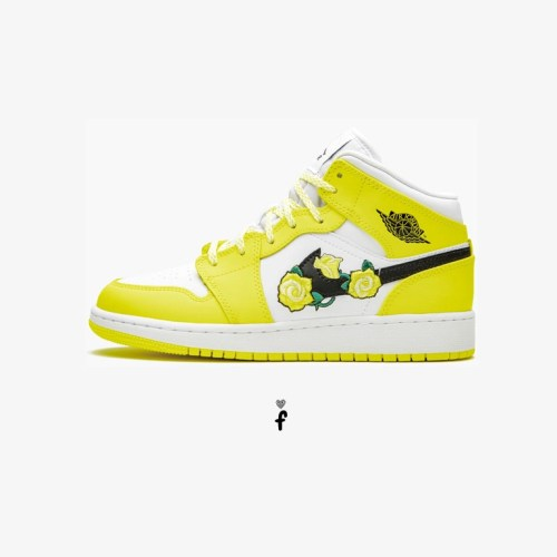 Nike Air Jordan 1 Mid Yellow Floral