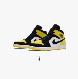 Nike Air Jordan 1 Mid Yellow Toe