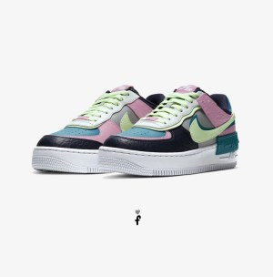 Nike Air Force 1 Shadow Negras Rosas Azules Verdes